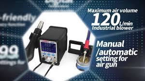<b>YIHUA 995D+</b> 2 in 1 hot air rework and <b>soldering station</b> - YouTube