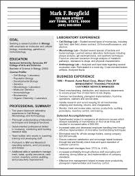resume sample for a sales manager   a degree in biology