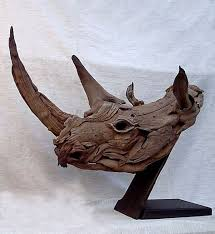 rhino head driftwood sculpture phases africa furniture and decor african decor furniture