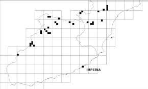 Presenza di Gentiana ligustica nei quadrati da 1 Km di lato (su ...