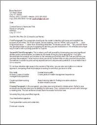 cover letter outline cover letter outline examples