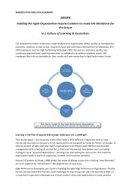 summary of my new book the high performance organization