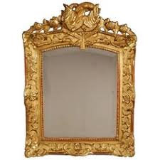 table mirror: french regency beveled mirror with gold giltwood frame