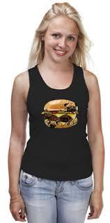 """Женские пижамы c неординарными принтами """"<b>бургер</b>"""" - купить в ..."""