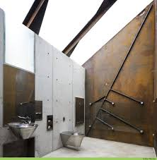 architecture bathroom toilet: public toilet design roadside reststop akkarvikodden manthey kula architects