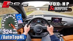 700HP AUDI RS6 C7 <b>AKRAPOVIC</b> on AUTOBAHN [NO SPEED ...