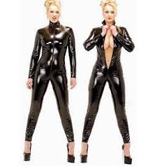 <b>2018 Hot Sexy Black</b> Catwomen Jumpsuit PVC Spandex Latex ...