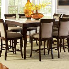 dining table heavenly dining room decoration using square cream granite top pub style dining