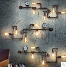 industrial wall lamps retro loft edison water pipe vintage wall lamp sconce for home indoor lighting cheap wall lighting