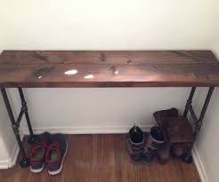 easy modern black iron pipe bench entryway table black steel pipe furniture