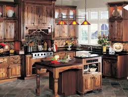 rustic kitchen cabinets small