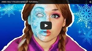 disney anna half frozen makeup tutorial
