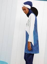 White - Navy Blue - Fully Covered <b>Swimsuits</b> | <b>Swimwear</b> in <b>2019</b>