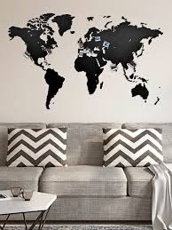 <b>Деревянная карта мира</b> Wall Decoration 130x78 cm MiMi ...