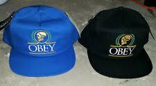 Шапки синяя регулируемая <b>OBEY</b> для мужчин - огромный выбор ...