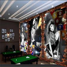 <b>beibehang Custom 3d wallpaper</b> billiard image wall billiard ...