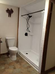 ideas shower systems pinterest: rebath quot slate tile white wall system with standard rebath shower base