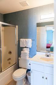 peaceful matching bathroom