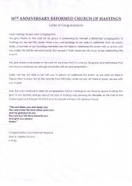 letters of congratulations 50th anniversary alan douma missionary png
