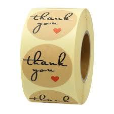 <b>500pcs 1inch Thank</b> You Stickers Wedding Decoration Stickers ...