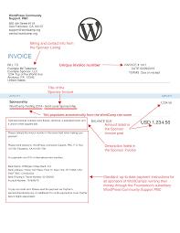 creating sponsor invoices make wordpress community example sponsor invoice