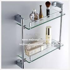 bathroom tempered glass shelf: china high quality tempered toughened glass bathroom glass shelf supplier