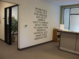 wall art decor special design cool office receptionist desk mural type best inspirational quotes self best office art