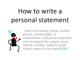 Sample Personal Statement   the STUDENT CENTER Sample Personal Statement for University Admission