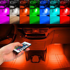 4PCS 36 <b>LED Car Interior Atmosphere</b> Neon Lights Strip RGB <b>Bar</b> ...