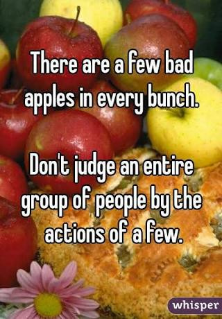 There is bad apple quotes