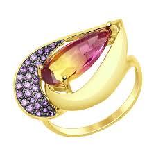<b>Кольцо</b> из <b>желтого</b> золота <b>SOKOLOV</b> – купить в официальном ...