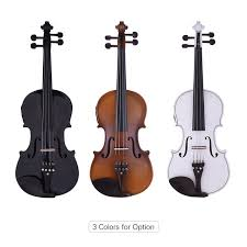 Online Shop ammoon <b>Full Size 4/4 Violin</b> Acoustic Electric Violin ...