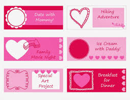 everyday art printable valentine s coupons for kids printable valentine s coupons for kids