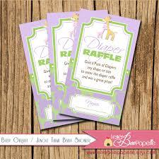 baby giraffe jungle theme diaper raffle ticket baby shower 128270zoom