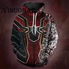 <b>YINUODAIL</b> Venom Spiderman Sweatshirt Zipper <b>Hoodies</b> Cosplay ...