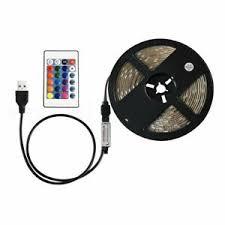 0.5-5M <b>RGB 5050 USB LED</b> Strip Light 5V TV Back Lamp Colour ...