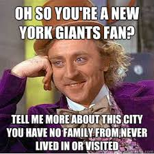 oh so you're a new york giants fan? Tell me more about this city ... via Relatably.com