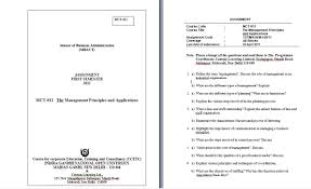 indira gandhi national open university mba assignments  assignment of management functions and behaviour