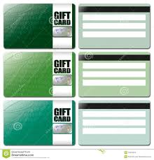 gift card template set stock images image  gift card template set 4