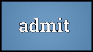 「admit」の画像検索結果