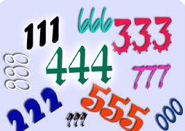 Resultado de imagen de 3 numeros identicos