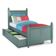 seaside blue full bed with trundle kids furniture blue kids furniture