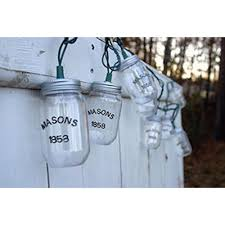 clear mason jar party lights blue mason jar string lights