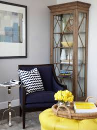 view full size yellow and navy blue living room bhg living rooms yellow