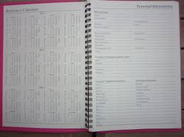 the weekly format has timed lines for each day from 9am to 5 pm holidays are printed on the day spaces there are six months of reference calendars along