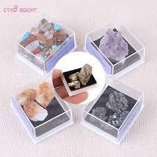 [YMIN] 1Box Mixed <b>Natural Rough</b> Stones <b>Raw Rose</b> Quartz Crystal ...