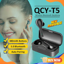 <b>2020 New QCY</b> T5 Wireless Earbuds Wireless Earphones Bluetooth ...