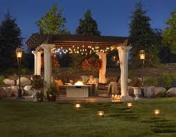 beautiful patio lighting
