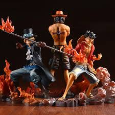 <b>One Piece 3pc/set Monkey</b> D Luffy Ace Sabo Pvc Action Figure Toy ...