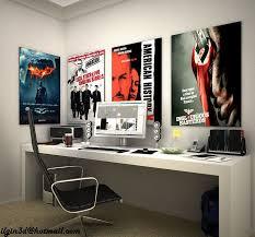 modern gallery long study table room design plan fantastical affordable minimalist study room design